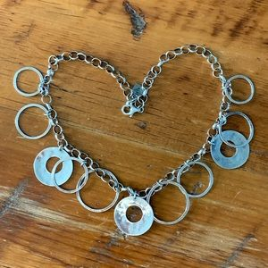 Silpada Hammered Circle Necklace N1325-Retired